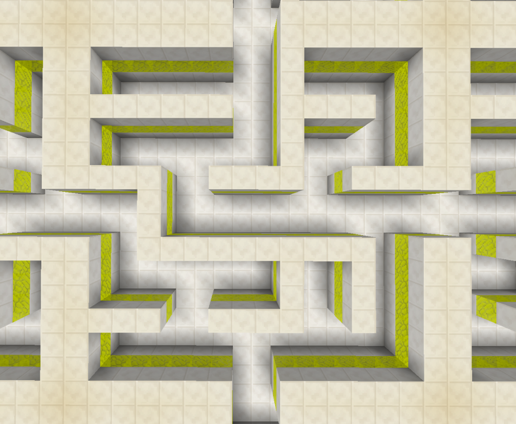 The prison forms a labyrinth