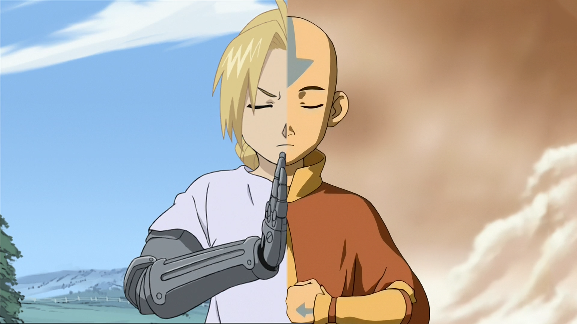Anime or Cartoon? Edward from Fullmetal Alchemist and Aang from Avatar