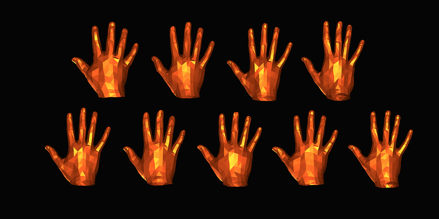 Hands with different shapes